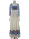 Womens Hippie Prairie Maxi Dress