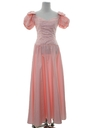 Womens Totally 80s Maxi Pretty in Pink Style Prom Or Cocktail Dress