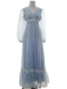Womens Hippie Prairie Style Maxi Prom Or Cocktail Dress