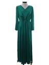 Womens Disco Style Cocktail Maxi Dress