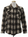 Mens Flannel Wool Western Shirt