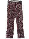Womens Flared Knit Mod Hippie Style Pants