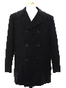 Mens Navy Issue Wool Pea Coat Jacket