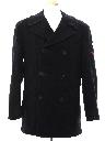 Mens Navy Issue Pea Coat Jacket