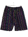 Mens Totally 80s Baggie Print Shorts