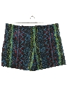 Mens Totally 80s Baggie Print Swim Shorts