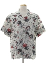 Mens Totally 80s Hawaiian Style Graphic Print Sport Shirt