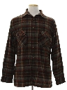 Mens Wool Flannel Shirt