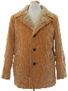 Mens Mod Corduroy Car Coat Jacket