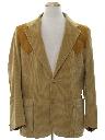 Mens Western Corduroy Blazer Sport Coat Jacket