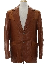 Mens Western Leather Blazer Sport Coat Jacket