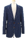 Mens Western Denim Blazer Sport Coat Jacket