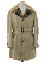 Mens Car Coat Style Overcoat Trench Jacket