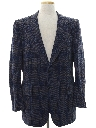 Mens Disco Style Wool Blend Blazer Sport Coat Jacket