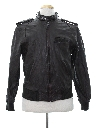 Mens Members Only Cafe Racer Leather Jacket