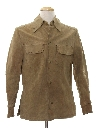 Mens Suede Leather Shirt Jacket