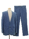 Mens Western Style Denim Disco Suit