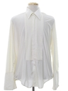 Mens French Cuff Pleated Tuxedo Shirt