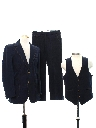 Mens Denim Three Piece Disco Suit