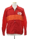 Mens Mod Racing Style Wind Breaker Zip Jacket