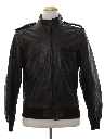 Mens Leather Cafe Racer Members Only Style Jacket