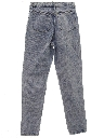 Womens Totally 80s Tapered Leg Acid Washed Denim Jeans Pants