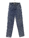 Womens Totally 80s Tapered Leg Denim Acid Washed Jeans Pants