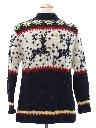 Mens Wool Reindeer Ski Sweater