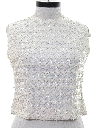 Womens Sequined Cocktail Shirt