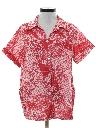 Womens Hippie Print Smock Style Shirt