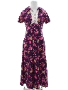 Womens Mod Print Hippie Dress