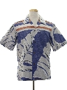 Mens Totally 80s Reverse Print Hawaiian Style Surf Shirt