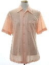Mens Subtle Print Disco Style Sport Shirt