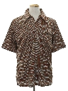 Mens Designer Subtle Print Disco Resort Wear Style Shirt