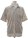Mens Designer Resort Wear Style Subtle Print Disco Shirt