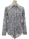 Mens Striped Print Disco Shirt