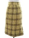 Womens Mod Plaid Skirt