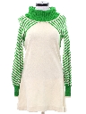 Womens A-Line Mod Knit Go-Go Style Mini Dress