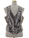 Mens Reversible Disco Suit Vest