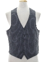 Mens Pinstriped Disco Suit Vest