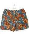 Mens Totally 80s Hawaiian Style Swim Shorts