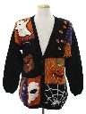 Unisex Cheesy Kitschy Ugly Halloween Cardigan Sweater