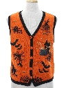 Unisex Cheesy Kitschy Ugly Halloween Sweater Vest