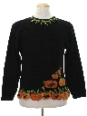 Womens Cheesy Kitschy Ugly Halloween Sweater