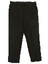 Mens Mod Flat Front Wool Slacks Pants