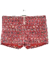 Mens Totally 80s Reverse Print Hawaiian Swim Shorts