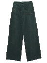 Womens Bellbottom Style Wide Leg Brushed Cotton Denim Jeans Pants