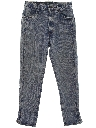 Womens Totally 80s Tapered Leg Acid Wash Denim Jeans Pants