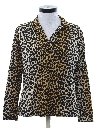 Womens Totally 80s Leopard Print Shirt