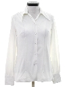 Womens Western Style Solid Disco Shirt